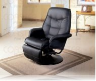 Ashford Black Swivel Recliner