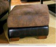 Belamar Leather ottoman