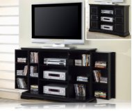 Black Media Storage TV Stand