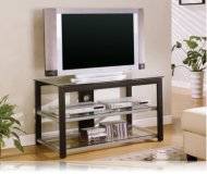 Black / Silver TV Stand