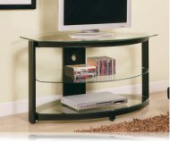 Black with Glass TV stand
