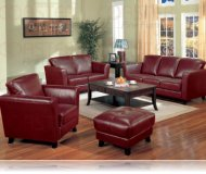 Brady Red Leather Sofa + Love Seat