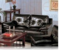 Century Drive Leather Love Seat