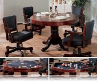 Cherry 5 Pc Dining Set, Bumper and Poker