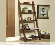 Contemporary Warm Rich Mahogany Book Shelves