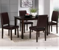 Dark Contempo 5 Pc Dining Set