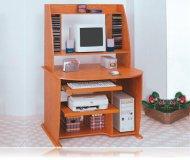 Desk/Computer w/Bookcase Wood Oak