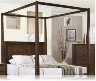 Garrett Canopy Queen Bedroom Bed