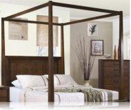 Garrett Canopy Queen Bedroom Bed