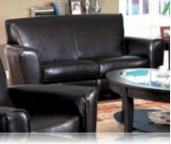Havana Leather Love Seat