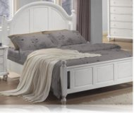 Kayla White King Bedroom Bed