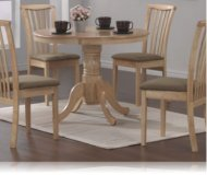 Mapple Finish Round Table 5 Pc Dining Set