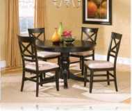 Melton 5 Pc. Dining Set + Round Table