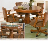 Oak 5 Pc Dining and Gaming Set