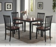 Oak/Black 5 Pc Dining Set