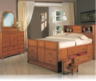 Olivia KE 5 Pc. Bookcase/Chest Bed King Bedroom Set