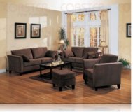 Park Place Brown Velvet Sofa + Love Seat