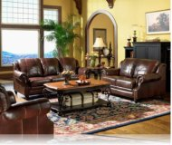 Princeton 2 Pc. Leather Sofa + Love Seat