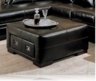 Roma Leather Storage Ottoman