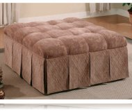 Skirted Fabric Ottoman