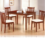 Tobacco Finish 5 Pc Dining Set