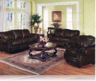 Wilson Leather Sofa + Love Seat