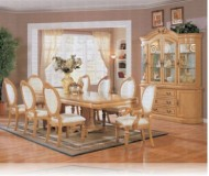 Wynn Antique 9 Pc. White Dining Set + China