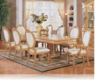 Wynn Antique 9 Pc. White Dining Set