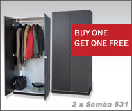 Somba 2Pc Wardrobe Set