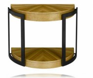 Stockholm Demilune Chairside Table