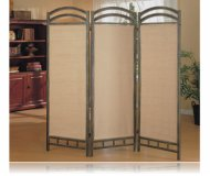 3-Panel Beautiful Metal Frame Room Divider Panel Screen