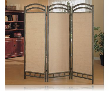 3 panel beautiful metal frame room divider panel screen