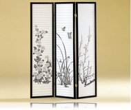 3 Panel Japanese Oriental Style Room Screen Divider
