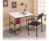 3 Piece Drafting Table Set Desk W/Lamp & Chair
