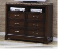 Andrea  cherry wood tv stand