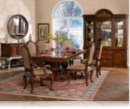 Antonette 7 Pc. Dining Set + China + Server + Mirror