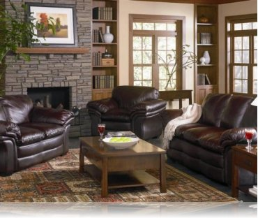 Ashur 2 Pc. Leather Sofa + Love Seat