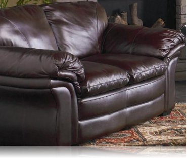 Ashur Leather Love Seat