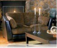 Belamar Leather Love Seat