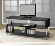 Black  tv stand shelves