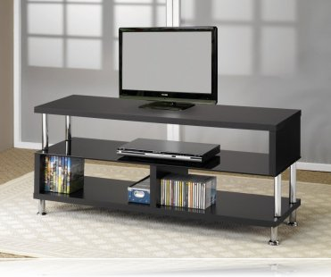 Black / Chrome TV Stand