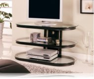 Black / Glass TV STand