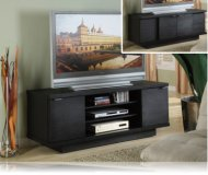 Black  black glass tv stand