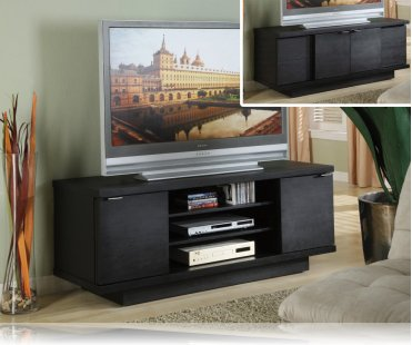 Black Modern Tv Stand Plasma Tv Stands Coaster 700641