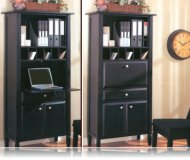 Black Secretary Desk