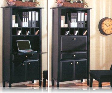Black Secretary Desk Library Bookcases Coaster 800373