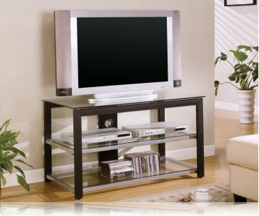 Black Silver Tv Stand Plasma Tv Stands Coaster 700612