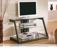 Black  tv stand glass