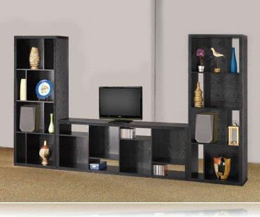 Bookcase unit in black
