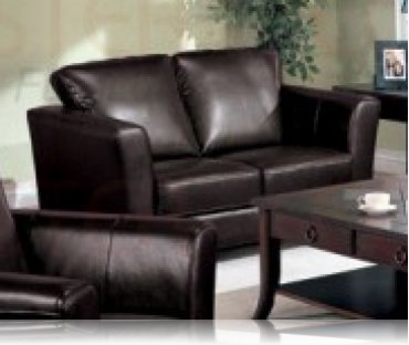 Brady Leather Love Seat